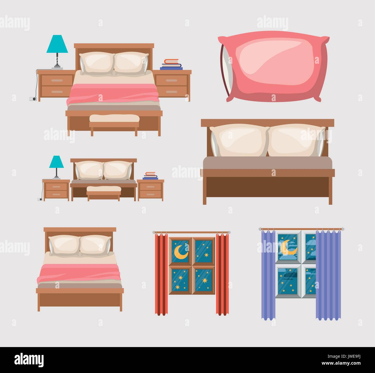 Bedroom Stock Vector Images - Alamy