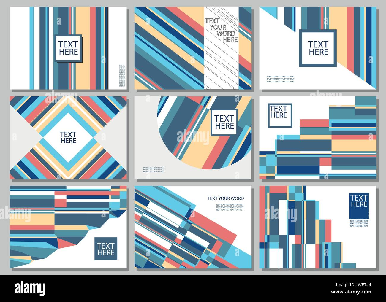 Set Of 9 Simple Geometric Graphic Covers Design Smart