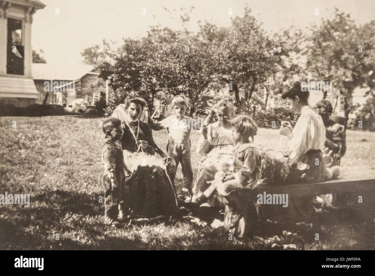 Women in Minnesota USA 1907-1908 having fun Stock Photo