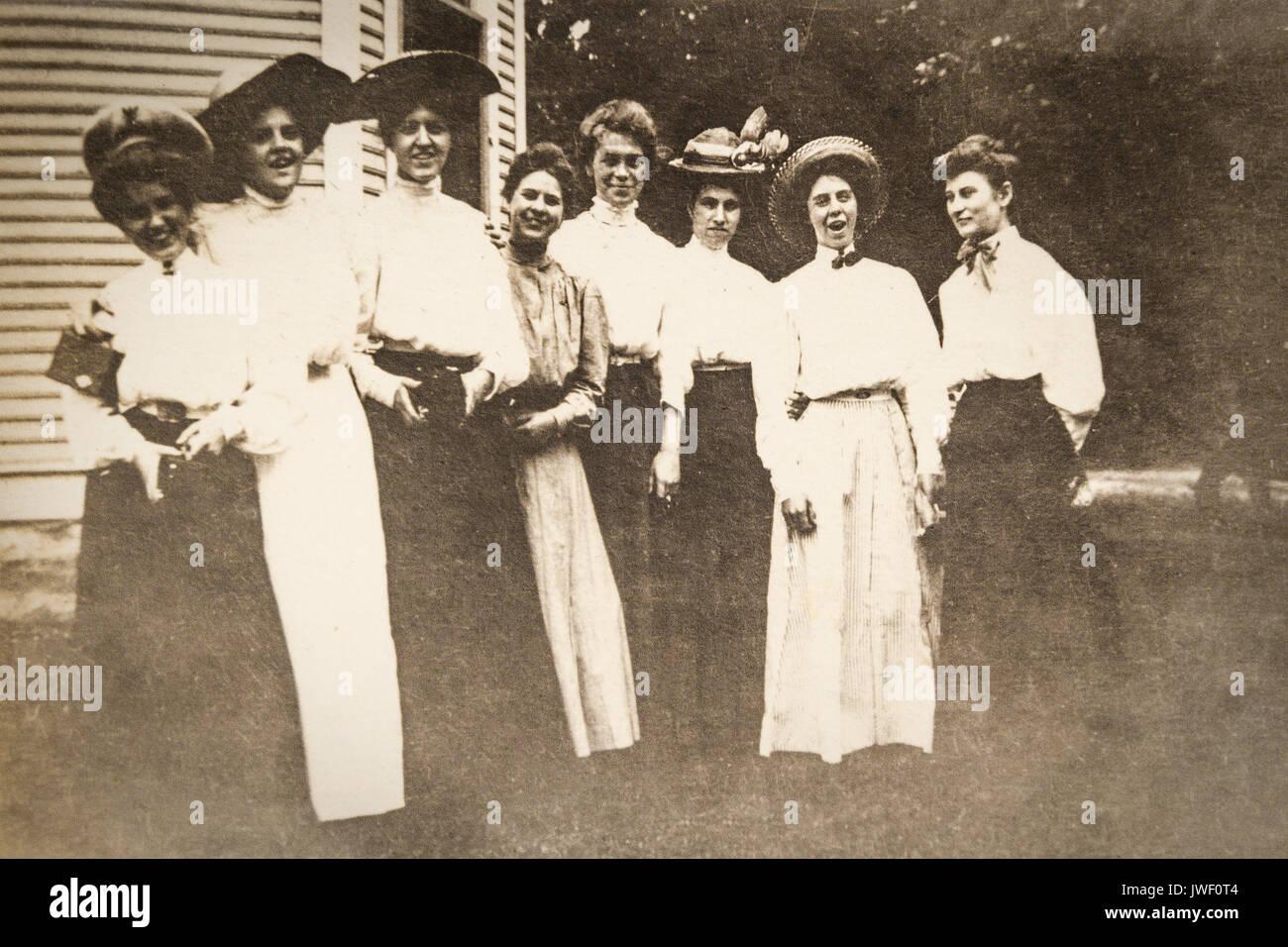 A gathering of Women having fun in Minnesota USA 1907-1908 Stock Photo