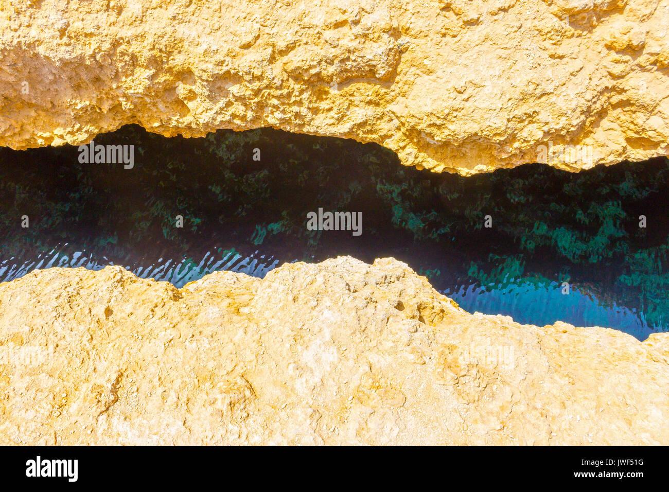 Crack in Ras Mohammed - Stock Image