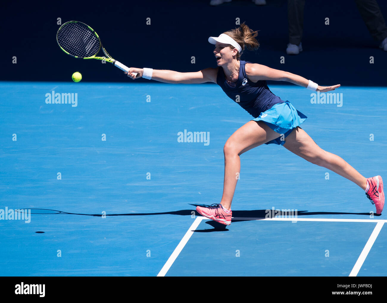 JOHANNA KONTA (GBR) in action at the Australian Open - Stock Image
