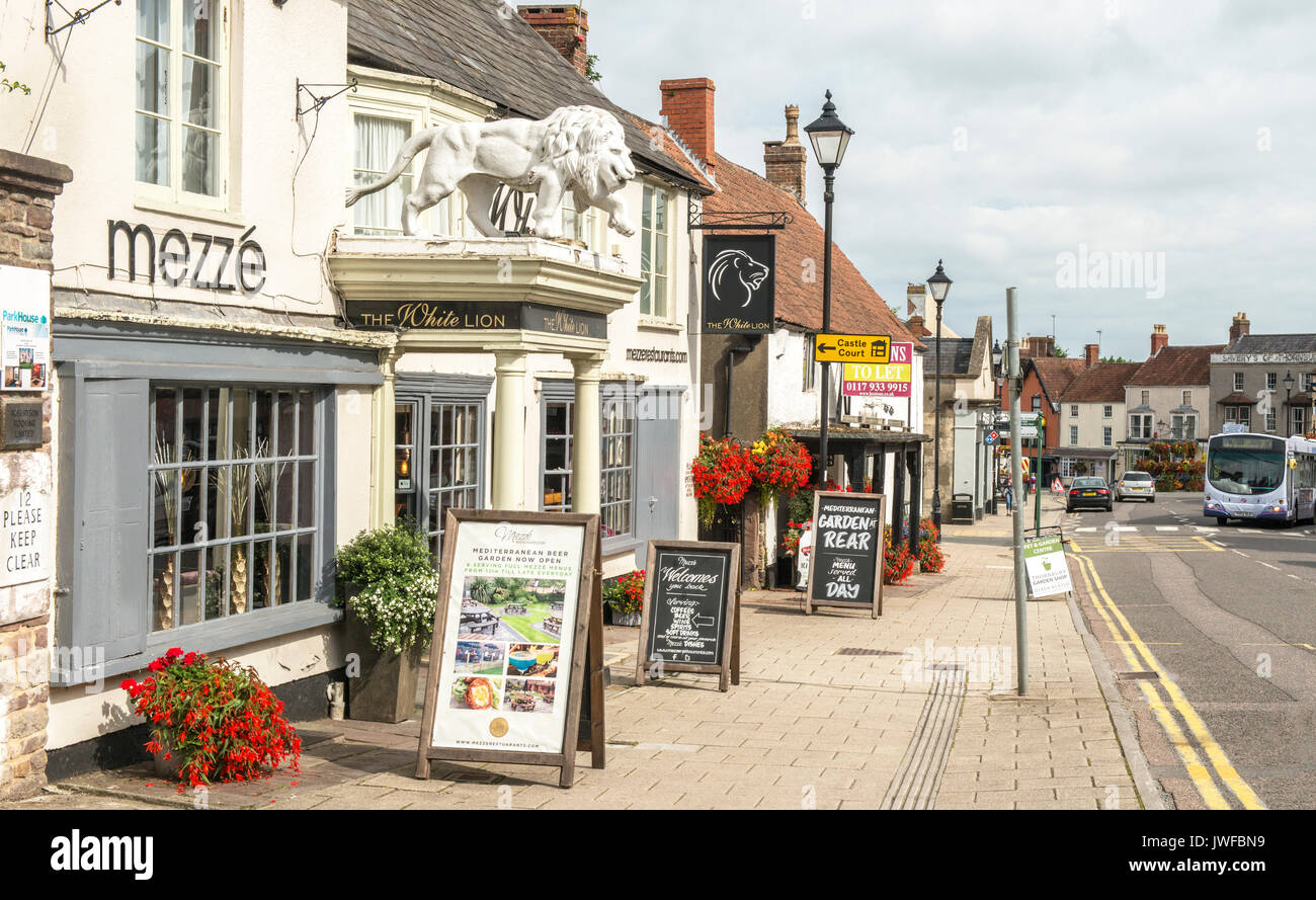 High Street Thornbury South Gloucestershire Stock Photo