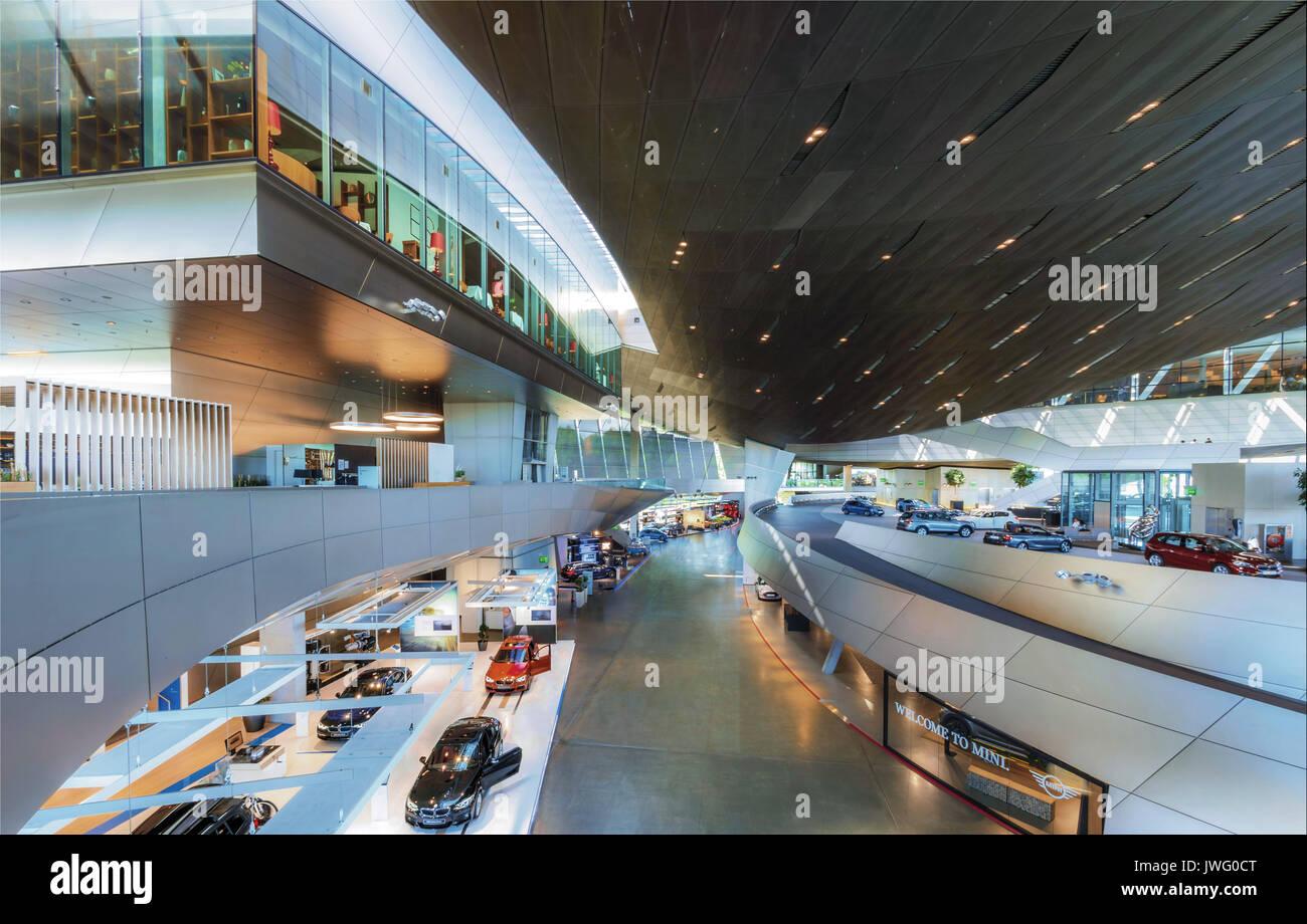 BMW-Welt, Auslieferungs- und Erlebniszentrum, München, Bayern, Deutschland, Europa Stock Photo