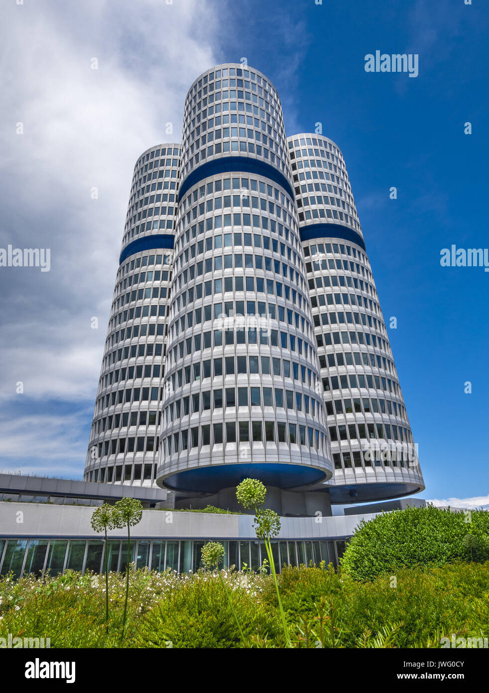 BMW Firmenzentrale, München, Bayern, Deutschland, Europa - Stock Image