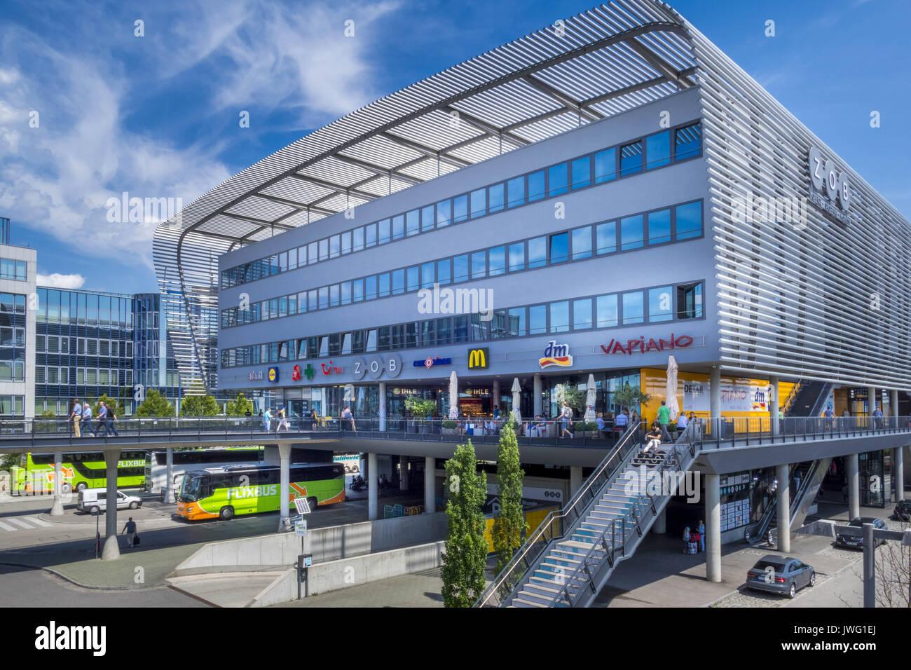 Zentraler Omnibusbahnhof, ZOB, München, Oberbayern, Bayern, Deutschland, Europa - Stock Image