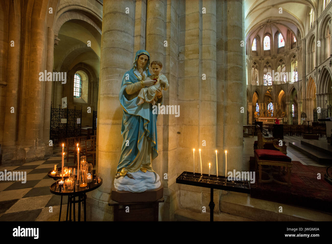 Caen, Normandy, France. The Abbaye aux Hommes ( Abbey for Men ), St Stephen's Church founded by William the - Stock Image