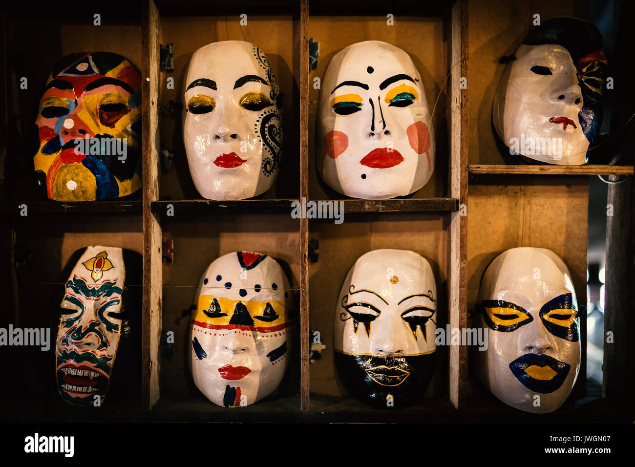 Face mask drawing. - Stock Image