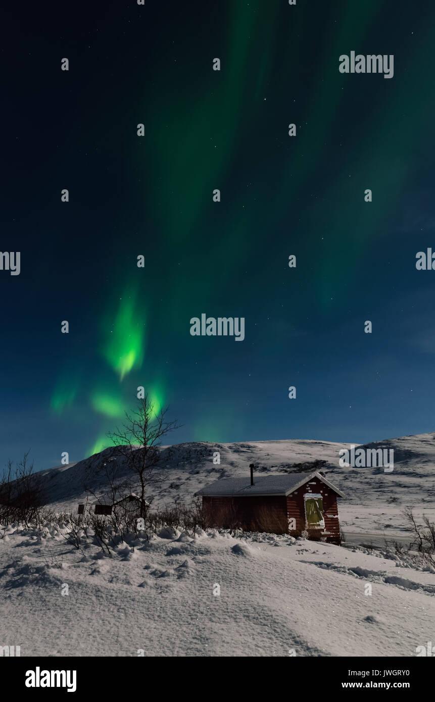 Northern lights Alta Finnmark Norway - Stock Image