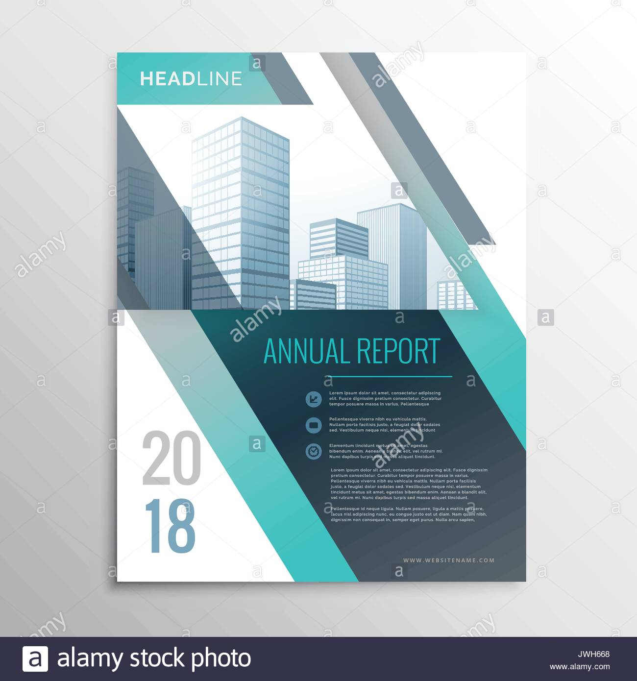 modern annual report business brochure design template cover page in
