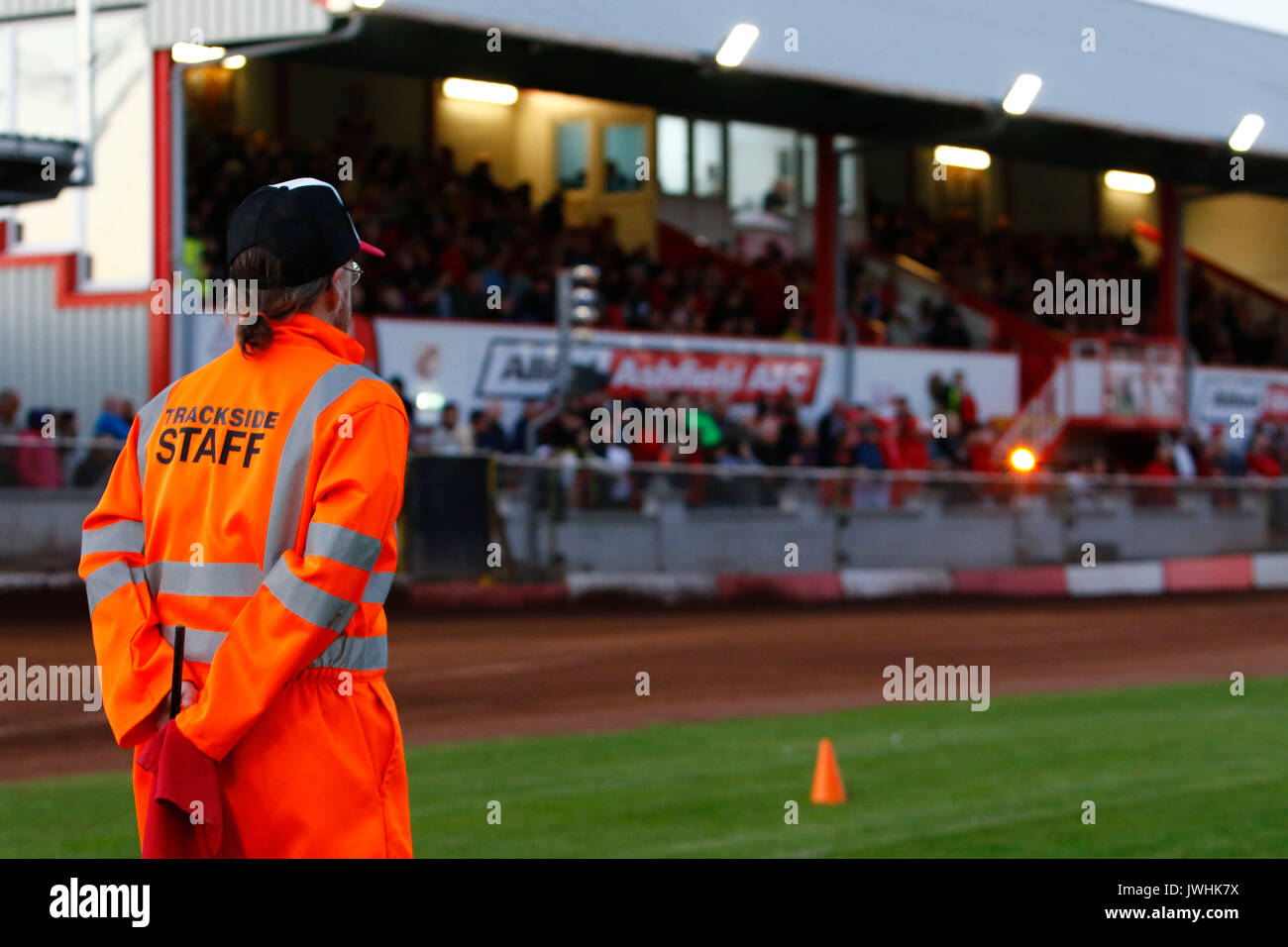 Glasgow, Scotland, UK. 12th August, 2017. The unsung heros of motorsport who withouth the dedicated guys who give up their time to marshall and maintain the track on raceday non of it would be possible. Well done guys. Credit: Colin Poultney/Alamy Live News - Stock Image