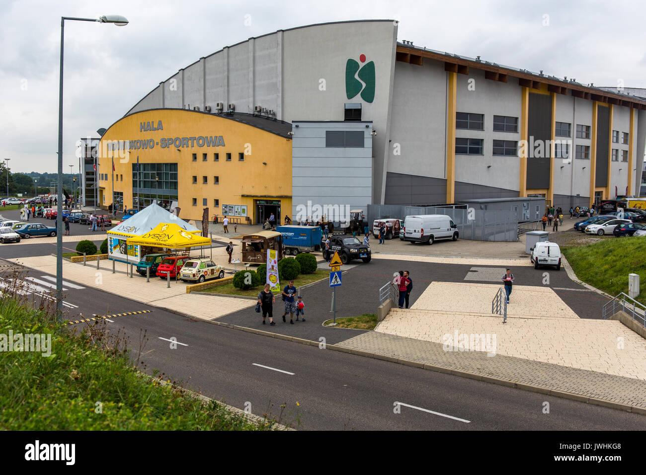 Bielsko-Biala, Poland. 12th Aug, 2017. International automotive trade fairs - MotoShow Bielsko-Biala. Main building. Credit: Lukasz Obermann/Alamy Live News - Stock Image