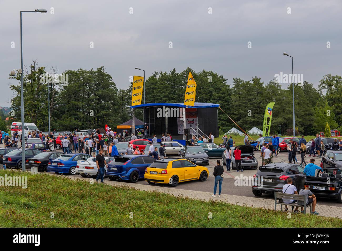 Bielsko-Biala, Poland. 12th Aug, 2017. International automotive trade fairs - MotoShow Bielsko-Biala. Credit: Lukasz Stock Photo