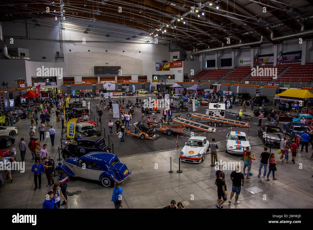 Bielsko-Biala, Poland. 12th Aug, 2017. International automotive trade fairs - MotoShow Bielsko-Biala. Main hall. Credit: Lukasz Obermann/Alamy Live News - Stock Image