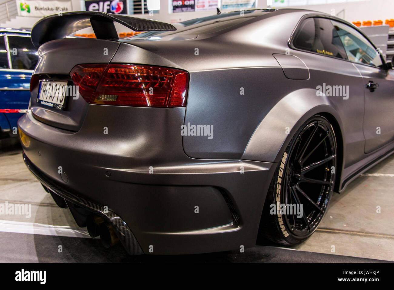 Bielsko-Biala, Poland. 12th Aug, 2017. International automotive trade fairs - MotoShow Bielsko-Biala. Rear view Stock Photo