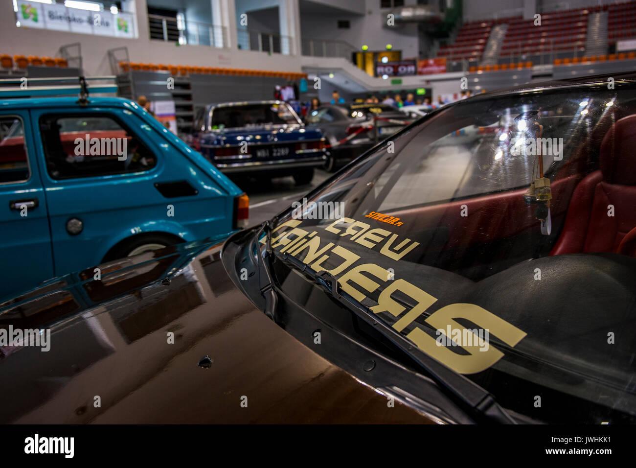 Bielsko-Biala, Poland. 12th Aug, 2017. International automotive trade fairs - MotoShow Bielsko-Biala. Crew Grinders Stock Photo