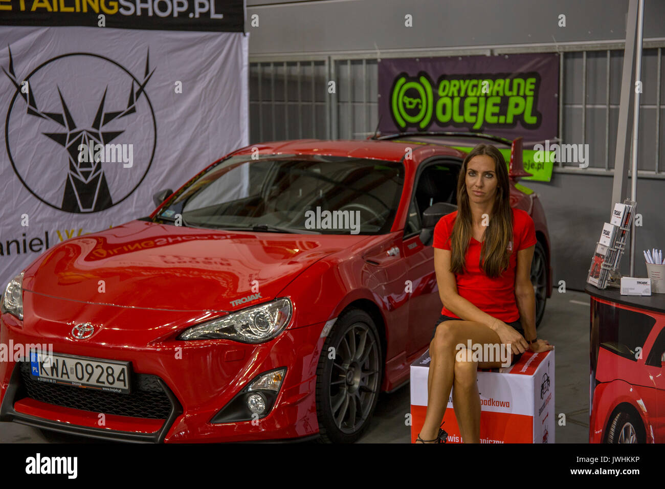 Bielsko-Biala, Poland. 12th Aug, 2017. International automotive trade fairs - MotoShow Bielsko-Biala. Toyota GT86 Stock Photo