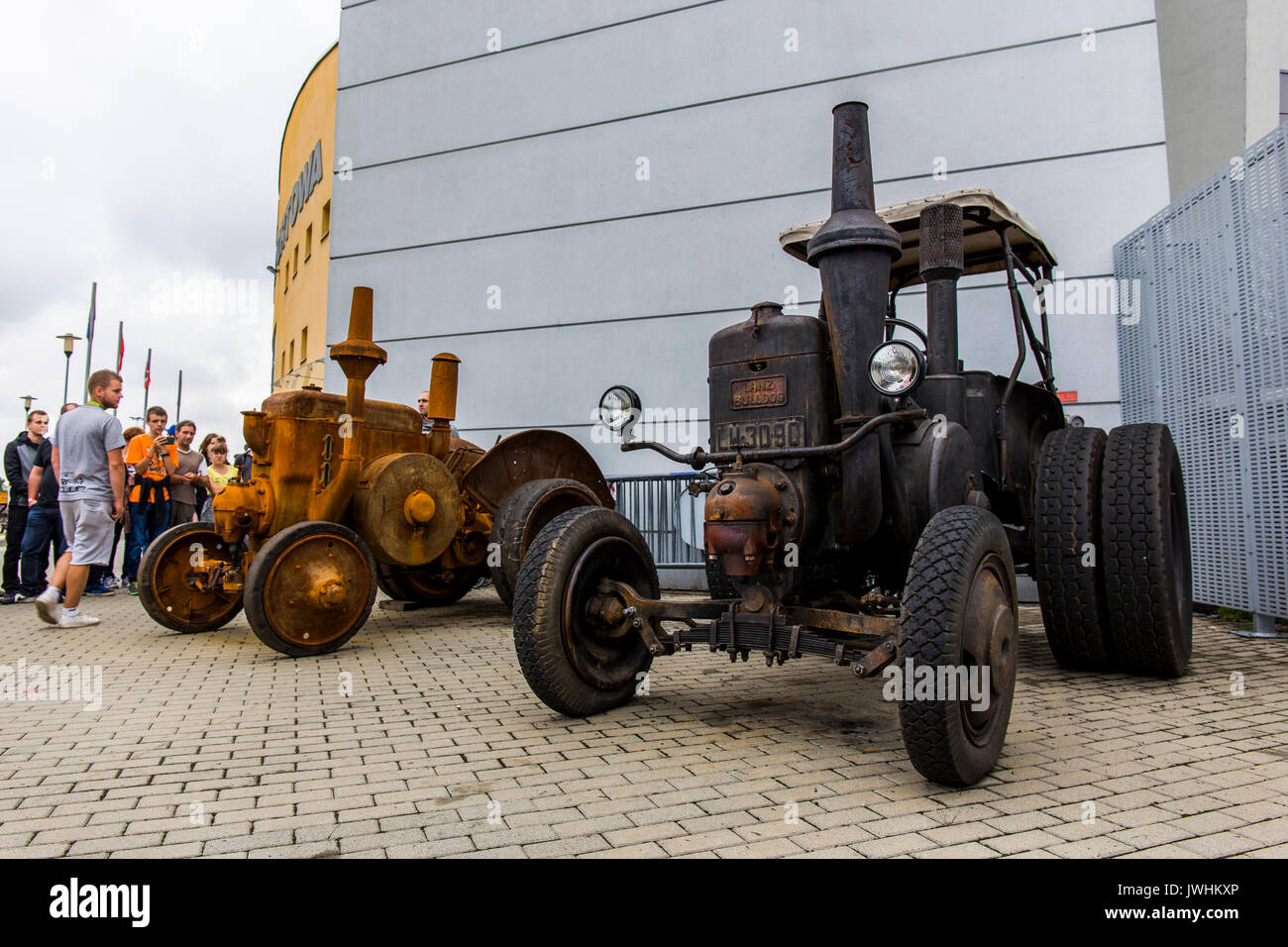 Bielsko-Biala, Poland. 12th Aug, 2017. International automotive trade fairs - MotoShow Bielsko-Biala. Old german Stock Photo