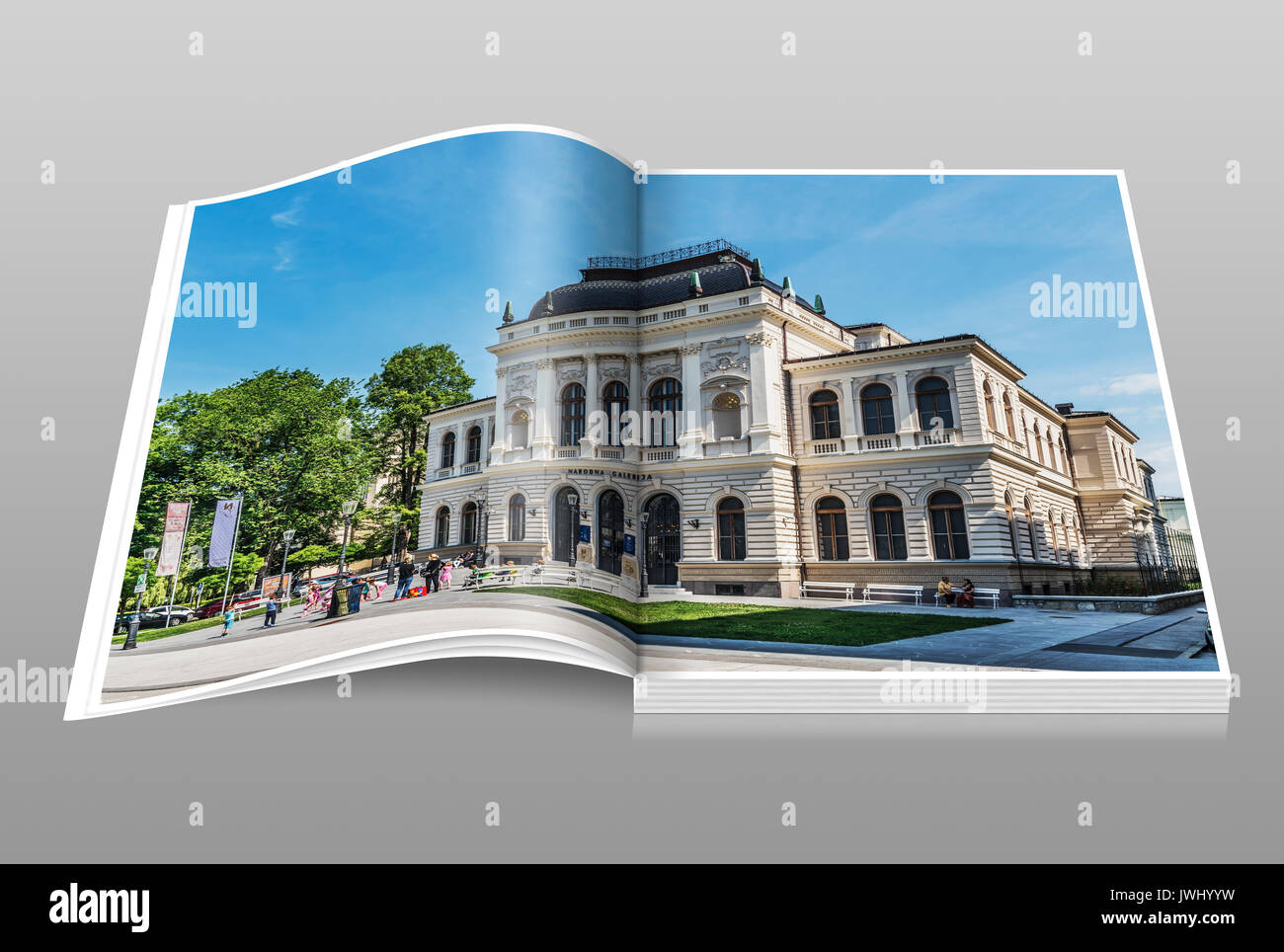 The National Gallery of Slovenia is an art museum for painting and sculptures, Ljubljana, Slovenia, Europe - Stock Image
