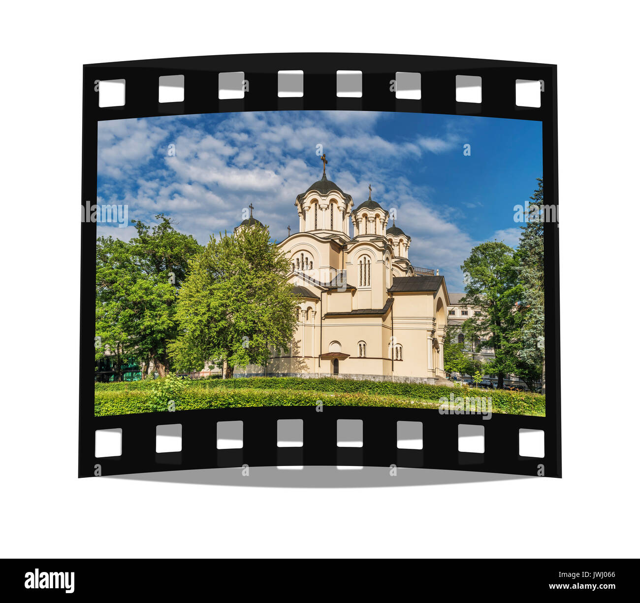 Sts. Cyril and Methodius church is the only Serbian Orthodox Church in Ljubljana, Slovenia, Europe - Stock Image