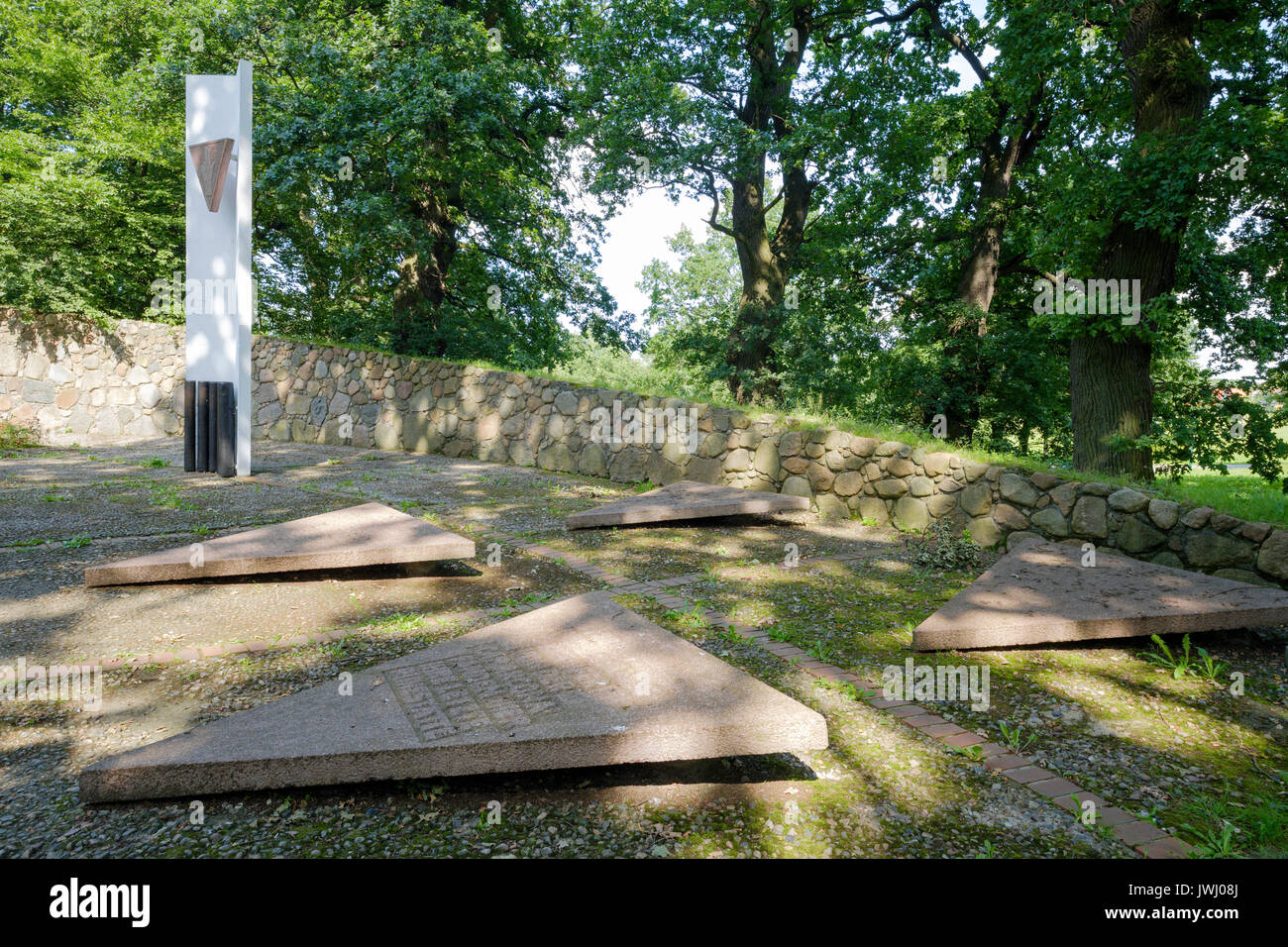 Monument to victims of Cap Arcona, Poel, Mecklenburg-Vorpommern, Germany - Stock Image