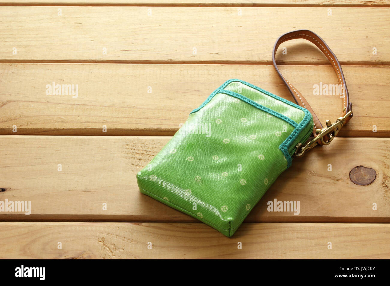 Purse on wooden Background Stock Photo