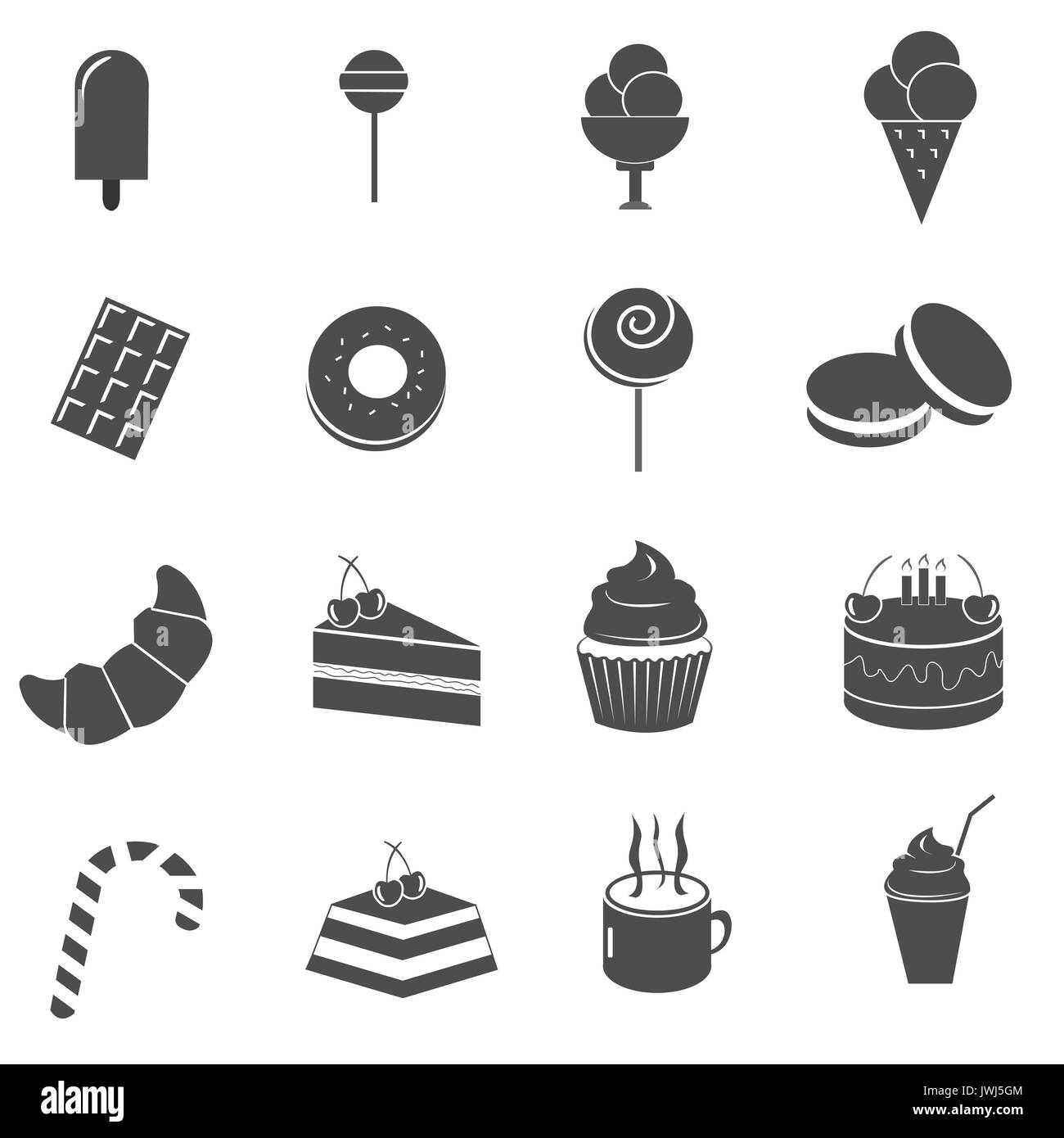 drawing cake pastry cream black and white stock photos