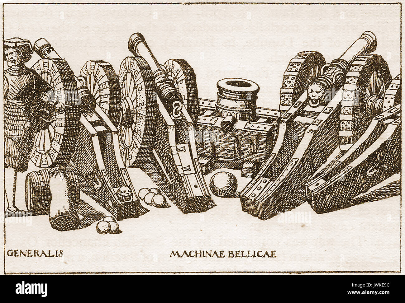 A pictorial illustration of cannons used during the 30 year War (1618-1632_ - Stock Image