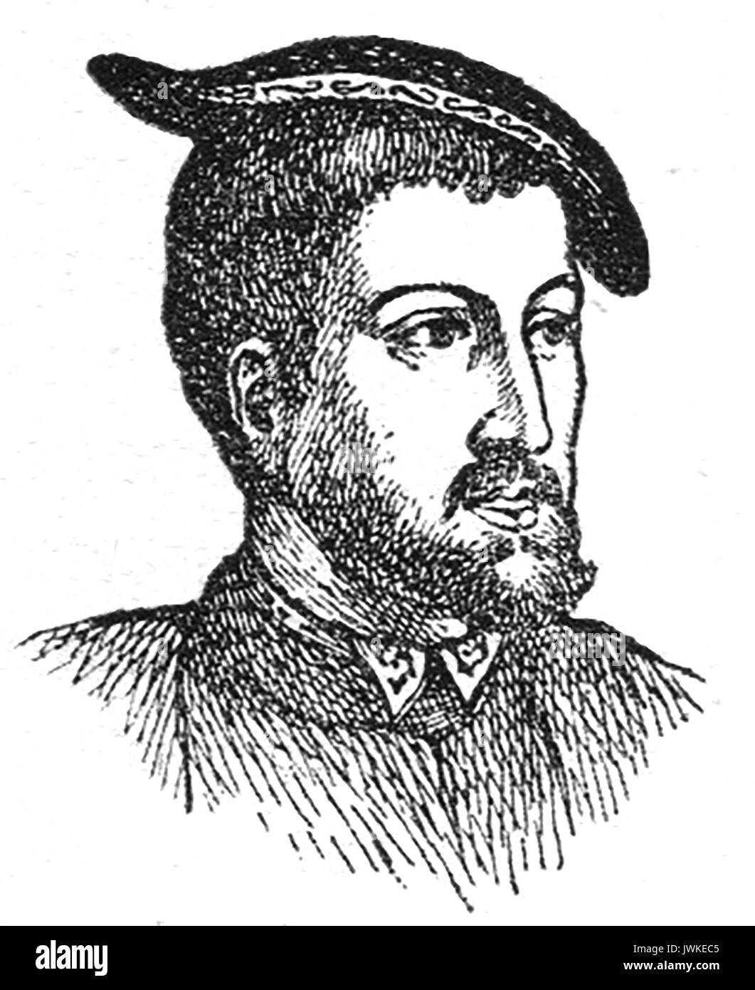 An Early portrait of King Charles V 5th - Stock Image