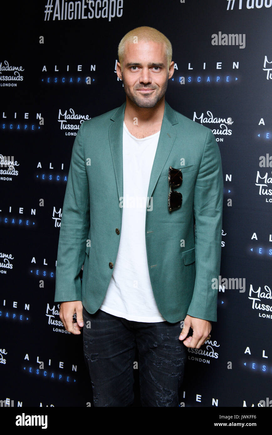 Celebrities attend the launch of  Alien Escape at Madame Tussauds London  Featuring: Spencer Matthews Where: London, Stock Photo