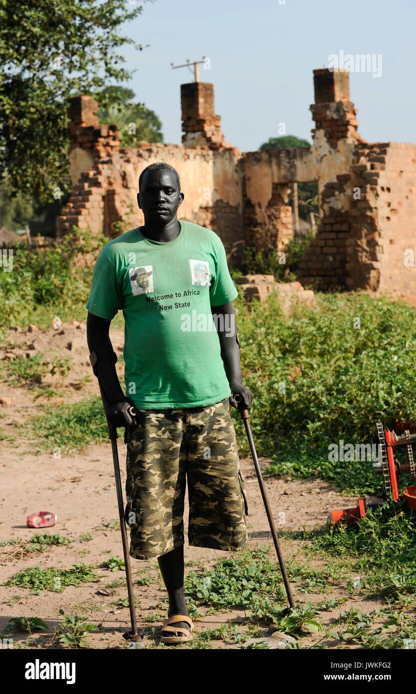 SOUTH SUDAN  Bahr al Ghazal region , Lakes State, town Rumbek , war heros of SPLA in Heroes Center Stock Photo