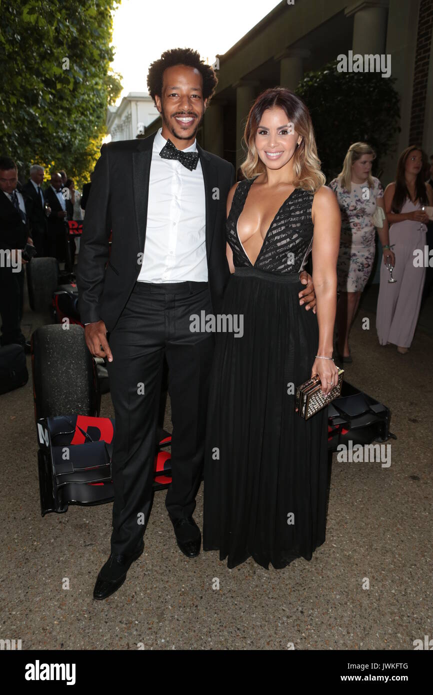 British Formula One racing legends and celebrities turned heads on the red carpet at the Hurlingham private members club this evening ahead of next week's British Grand Prix.  Featuring: Tony Sinclair, Shanie Ryan Where: London, United Kingdom When: 12 Jul 2017 Credit: Phil Lewis/WENN.com - Stock Image