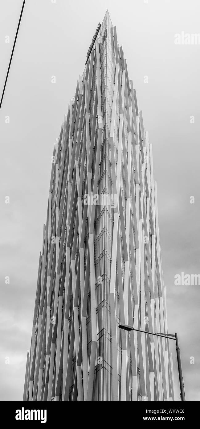Modern office building of Telefonica Company - BARCELONA / SPAIN - OCTOBER 2, 2016 - Stock Image