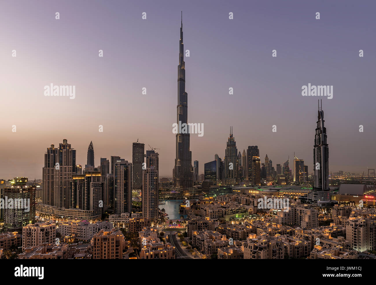 Dubai Downtown - Stock Image