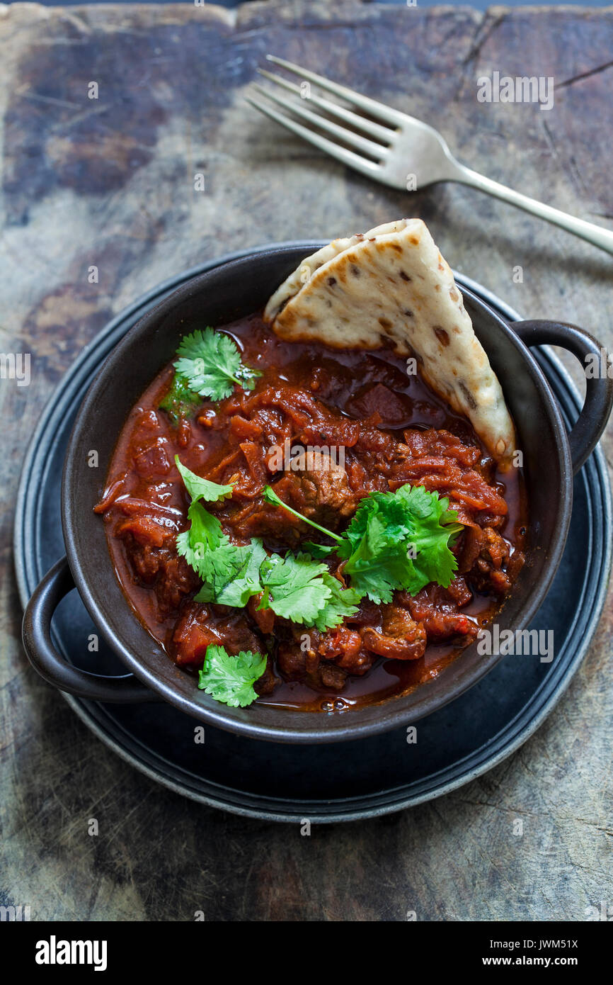 Beef and beetroot curry - Stock Image