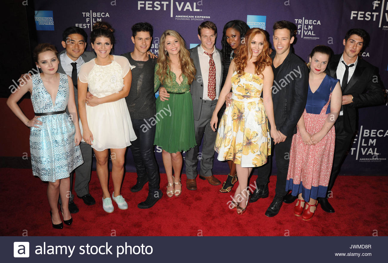 The cast of 'G.B.F.'The new bright young things in Hollywood arrive on the red carpet for 2013 Tribeca Film - Stock Image