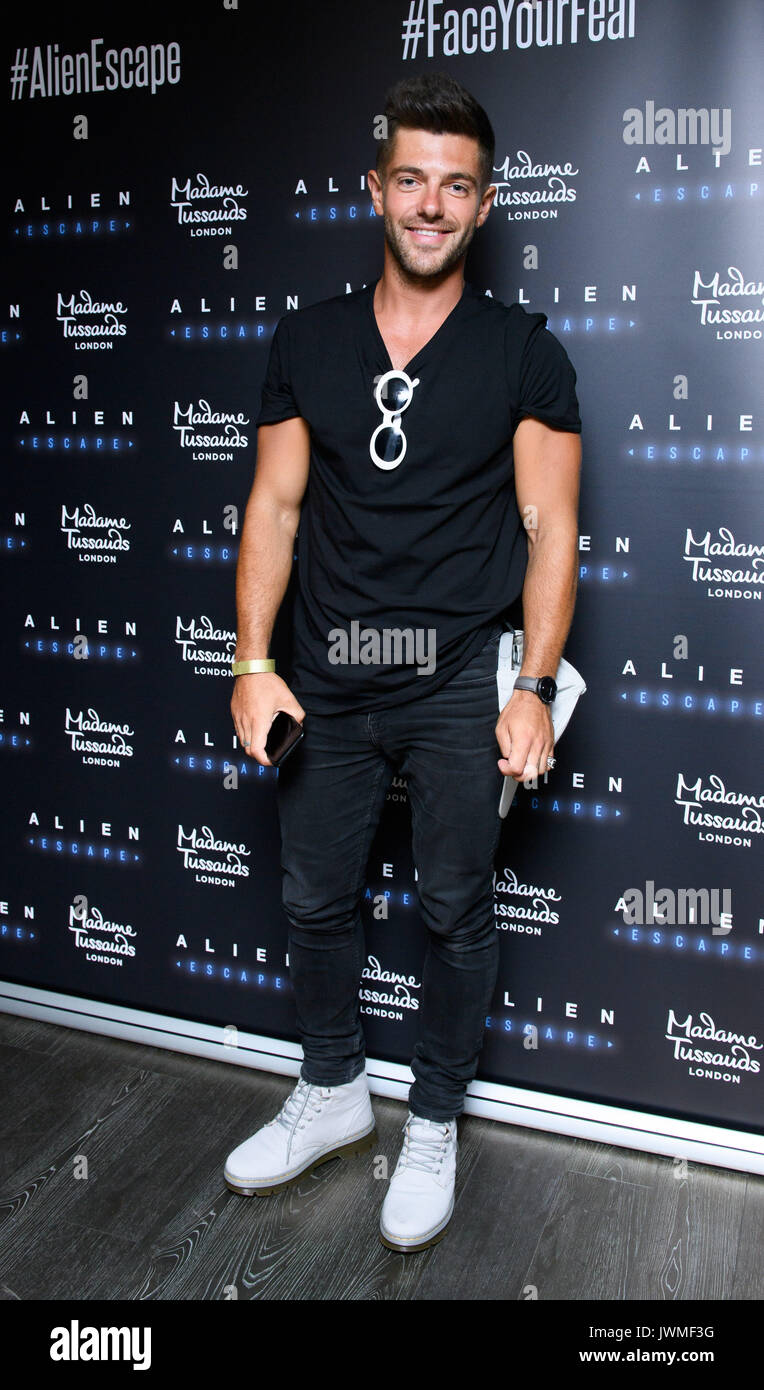Celebrities attend the launch of  Alien Escape at Madame Tussauds London  Featuring: Alex Mytton Where: London, Stock Photo