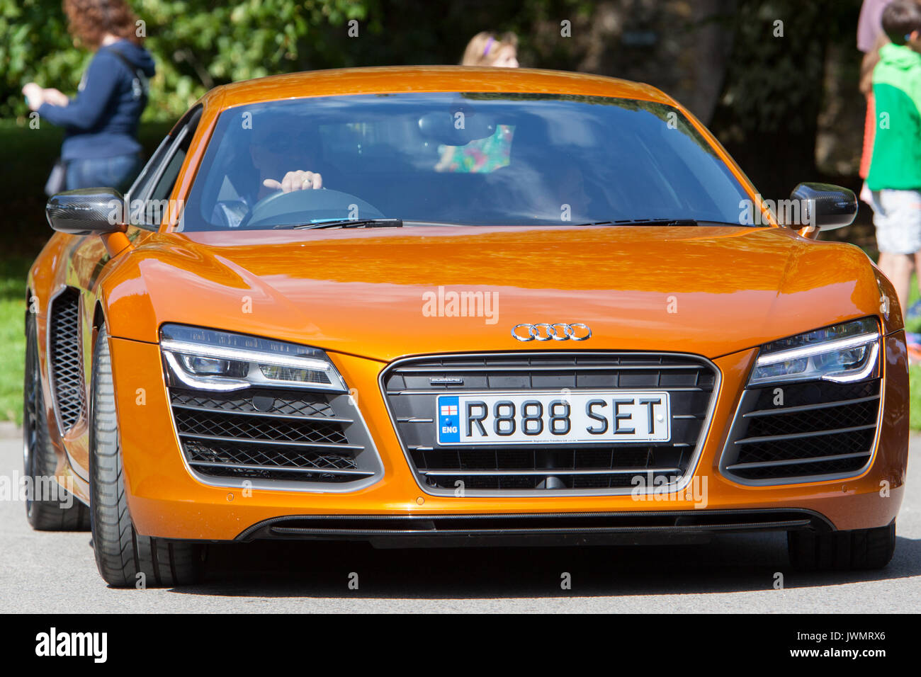 Audi R8 PLUS QUATTRO V10 S-A 2014 Orange - Stock Image