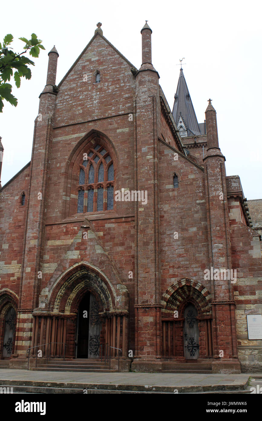 st magnus cathederal orkney - Stock Image