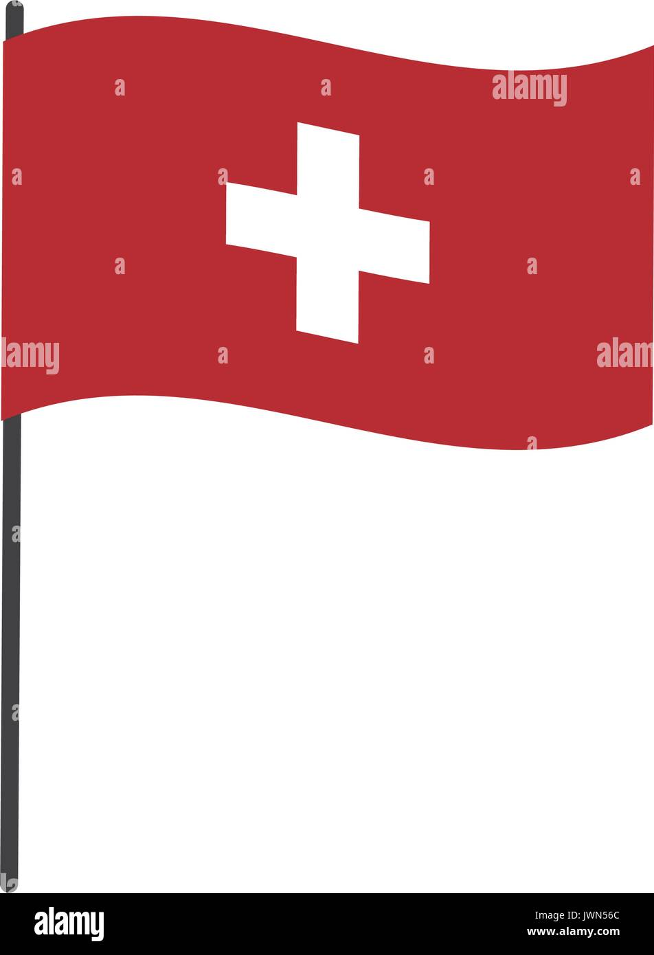 flag of switzerland accurate dimensions element proportions - Stock Image