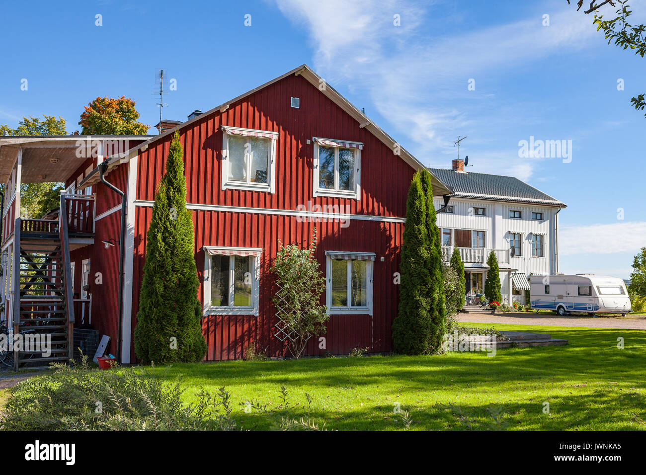 Typical Red Country House Swedish Stock Photos & Typical Red Country on swedish interior design, swedish loft design, swedish restaurant design, swedish office design, swedish garden design, swedish home design, swedish kitchen design, swedish design style, swedish apartment design, swedish modern design, swedish traditional design, swedish cottage design, swedish log cabin design, swedish barn design, swedish country design,