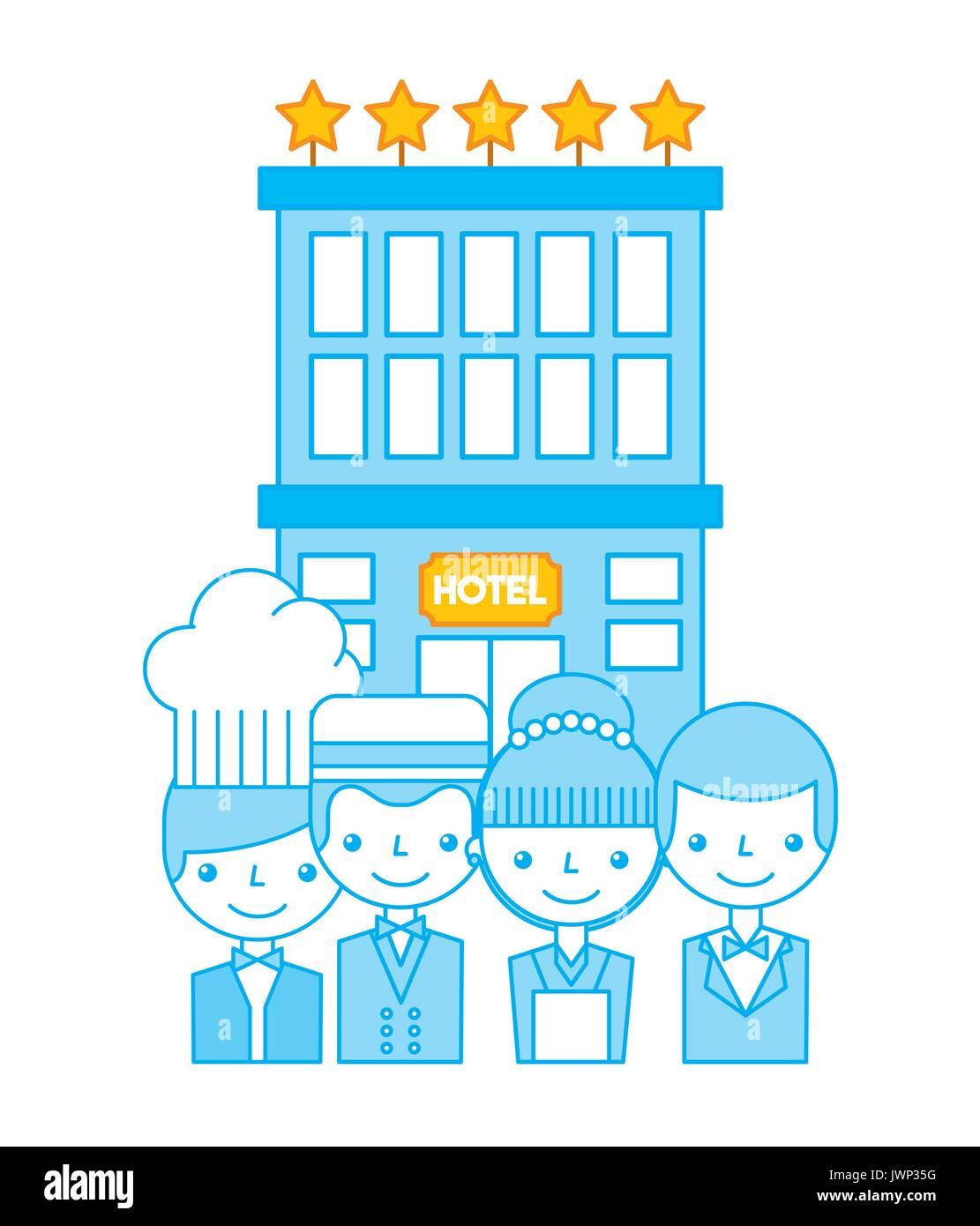 Luxury hotel rest break - Stock Vector