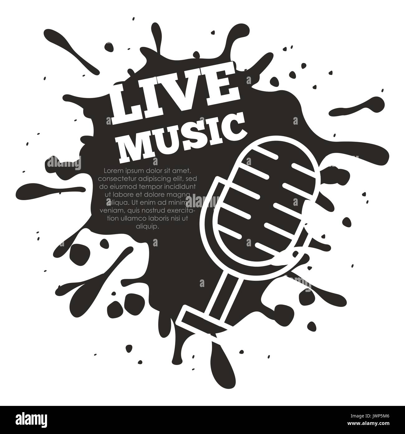 live music concert - Stock Image