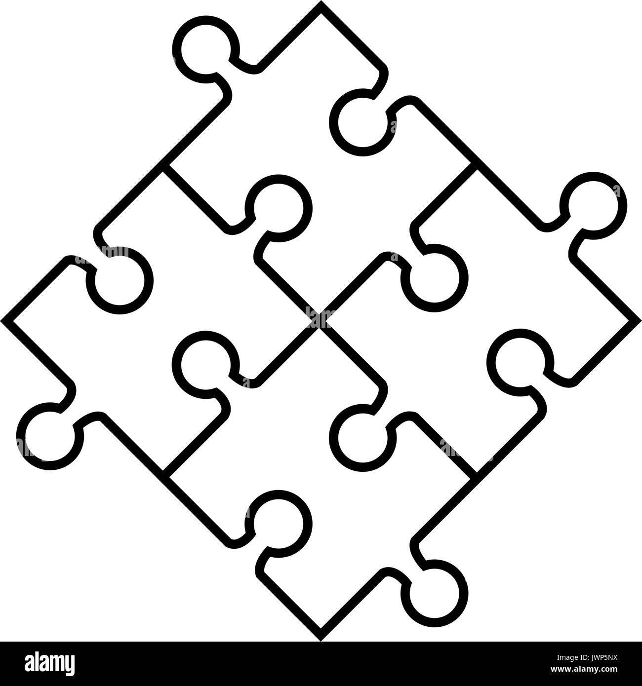 Jigsaw Puzzles Icon Over White Background Vector Illustration