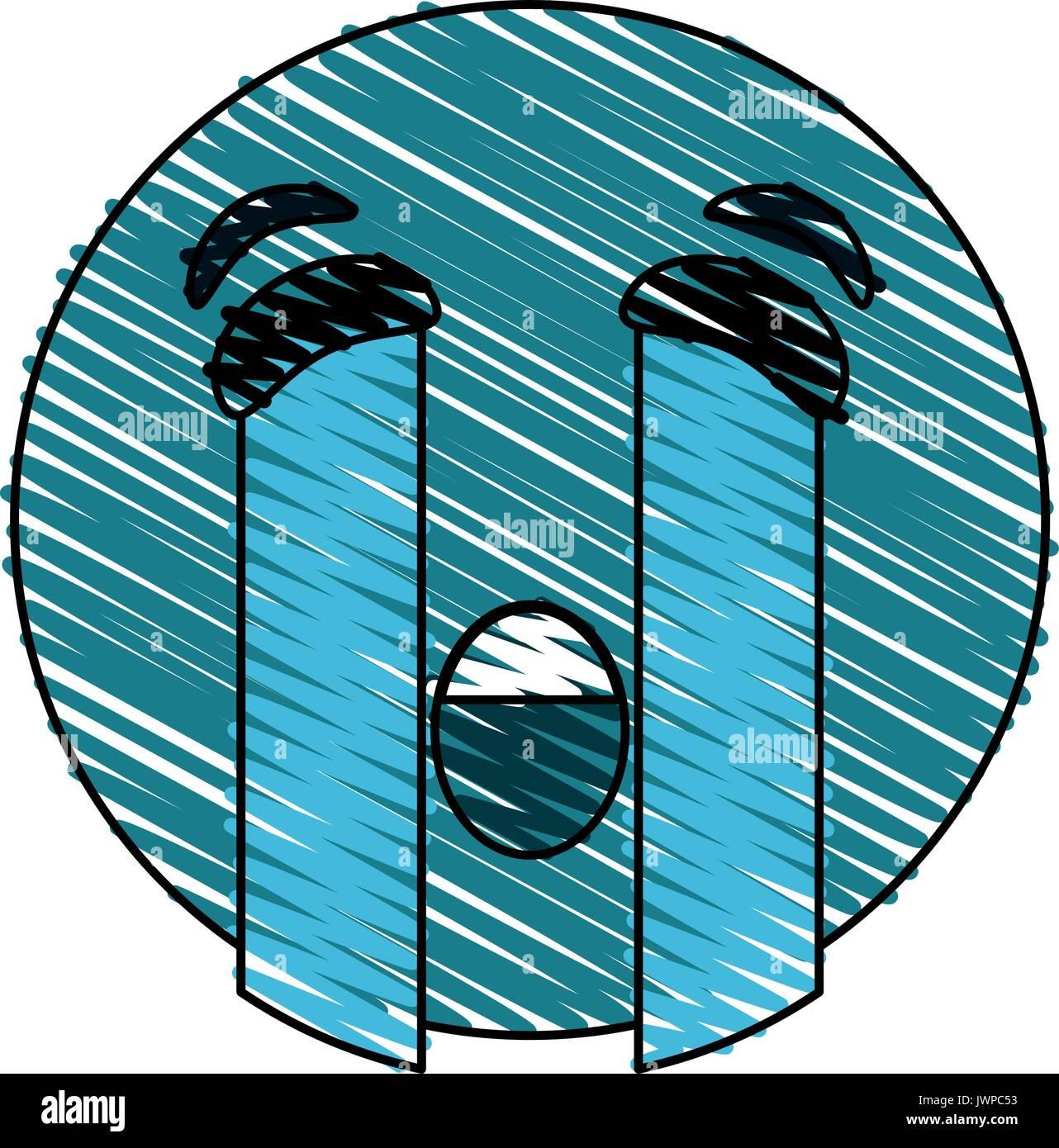 crying eyes emoji icon image  - Stock Image