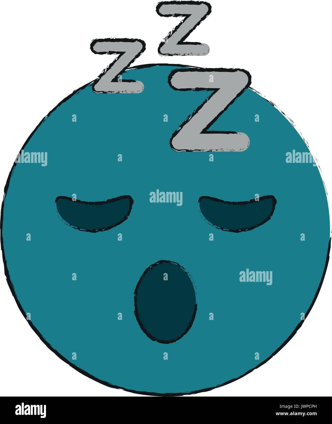sleepy eyes zzz emoji icon image Stock Vector Art & Illustration