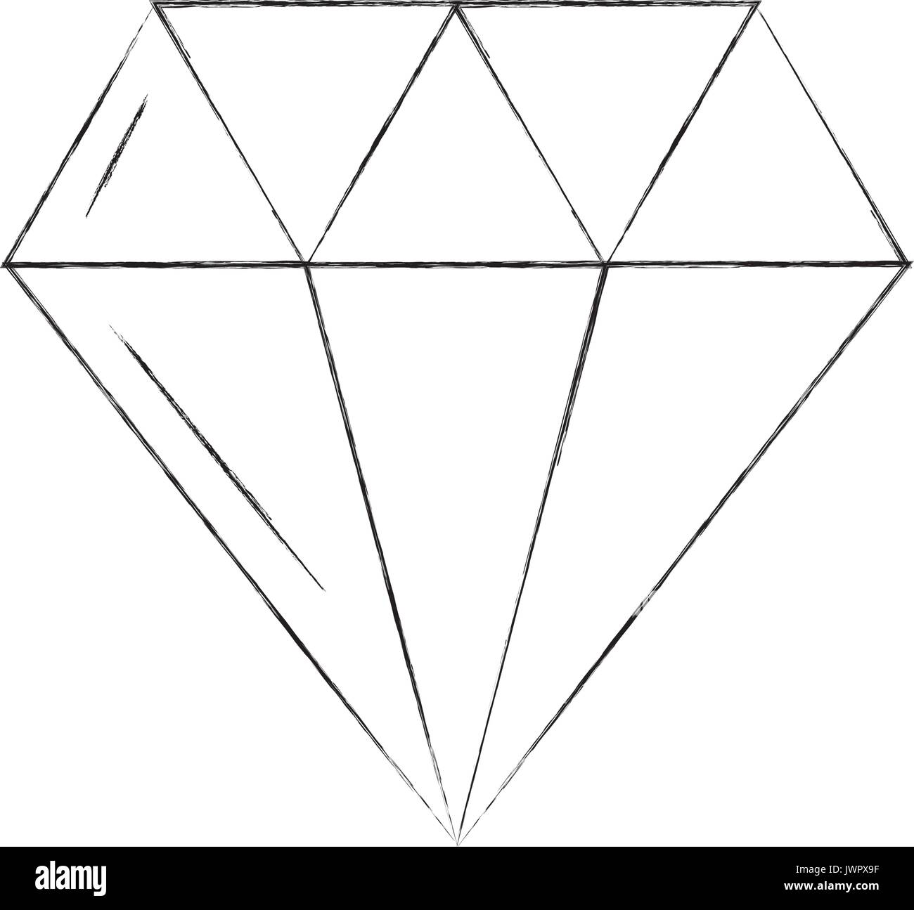 luxury diamond isolated icon - Stock Image