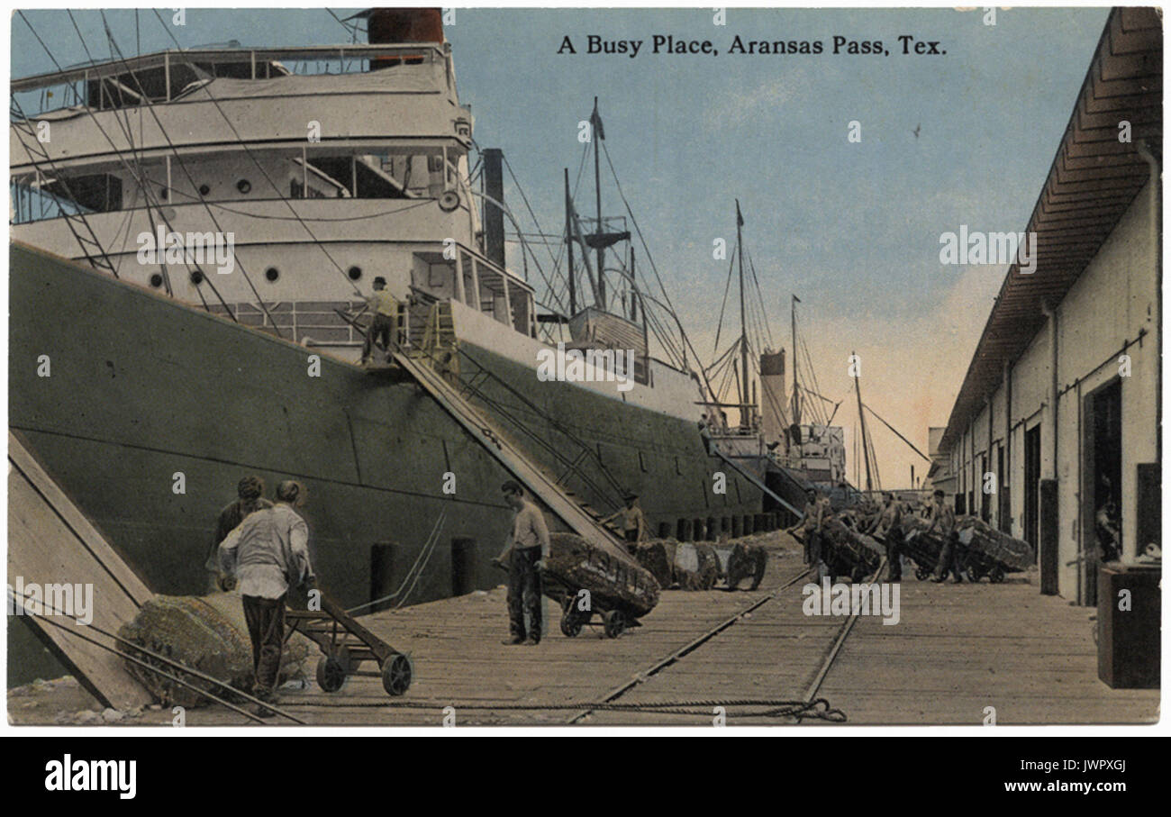 A Busy Place, Aransas Pass, Tex. - Stock Image