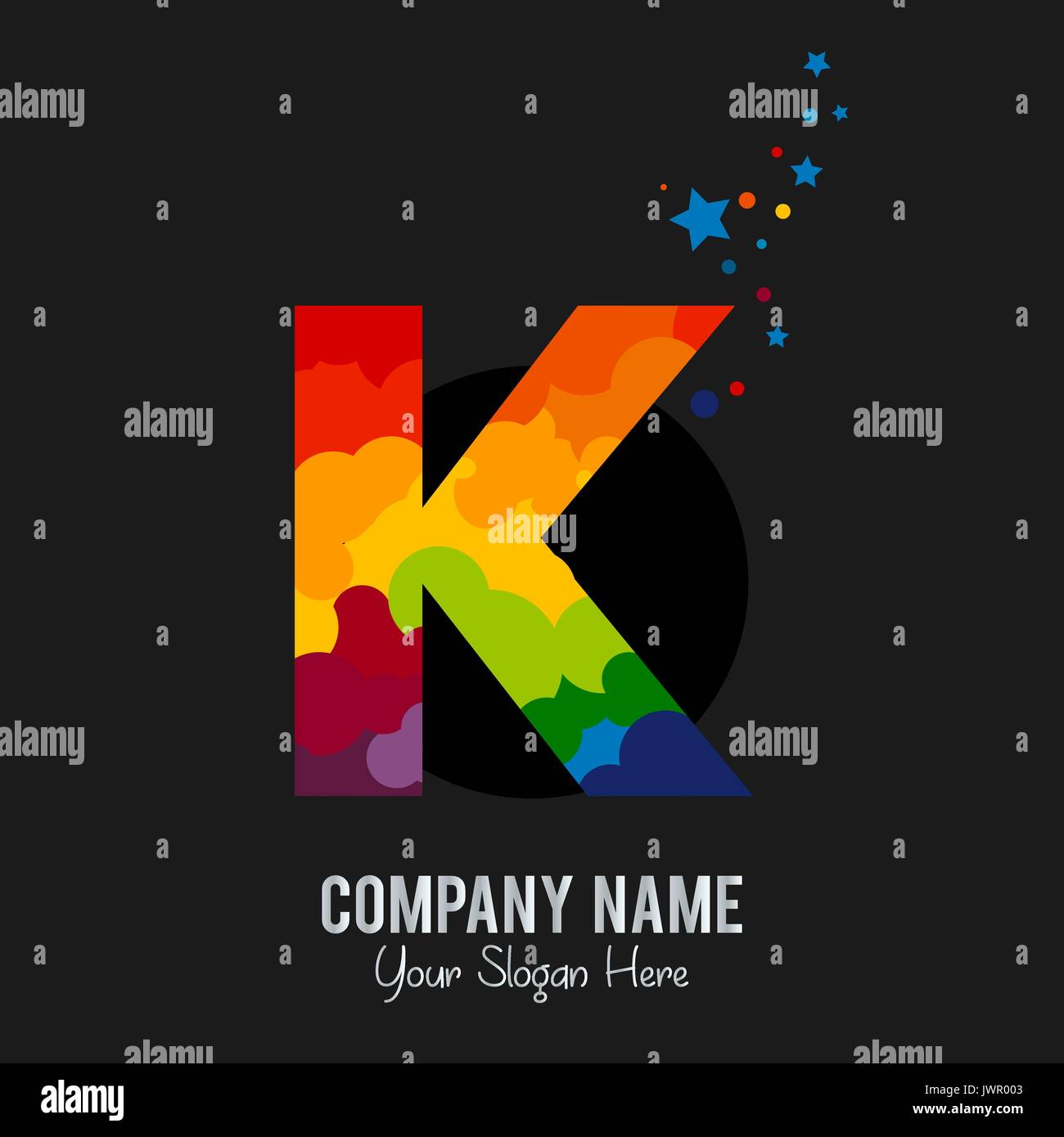 Letter K logo icon design template elements - Stock Image