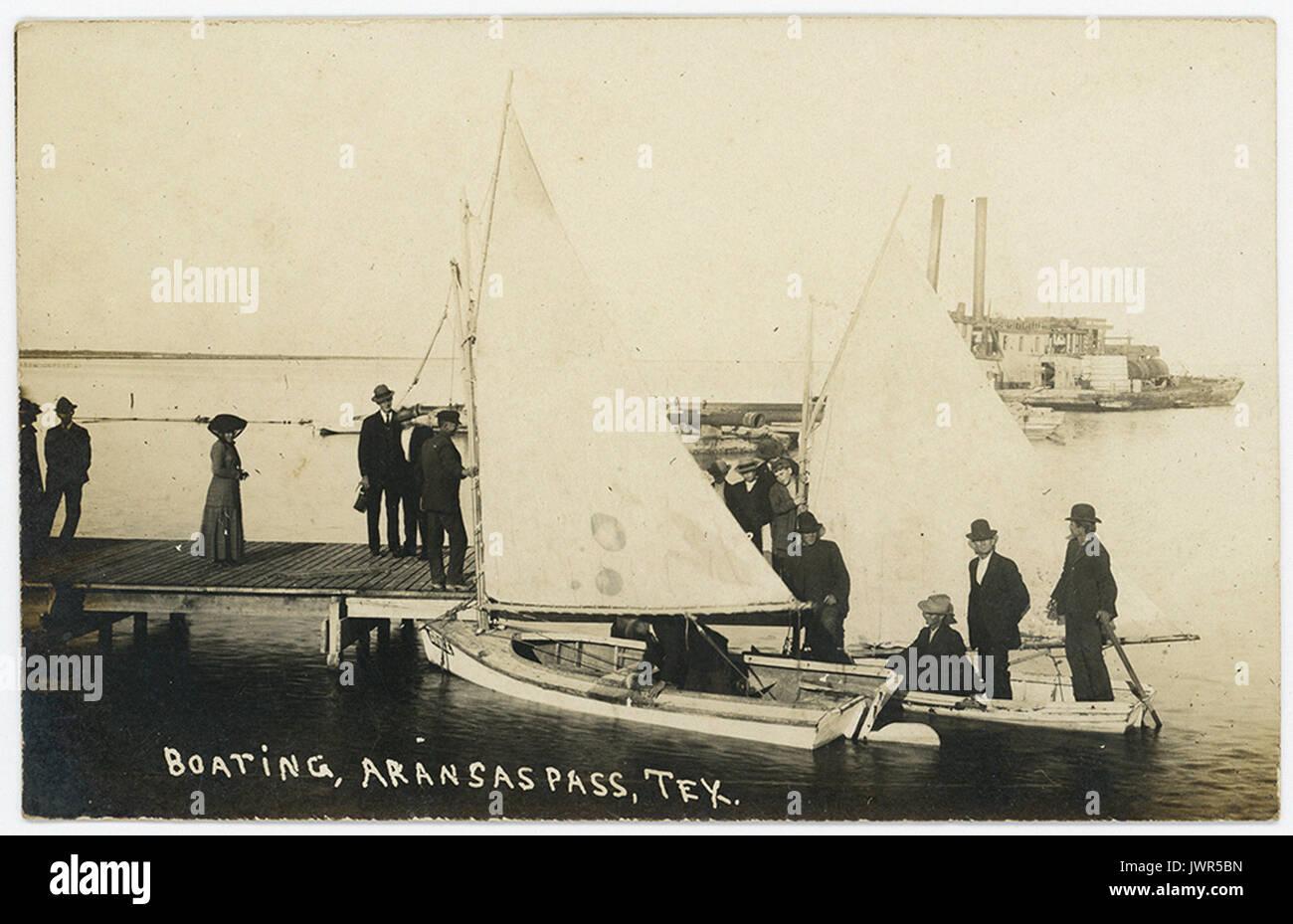 Boating, Aransas Pass, Tex. - Stock Image